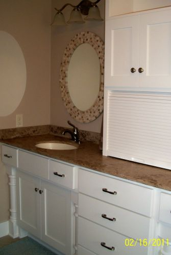 Painted White Bath Cabinets