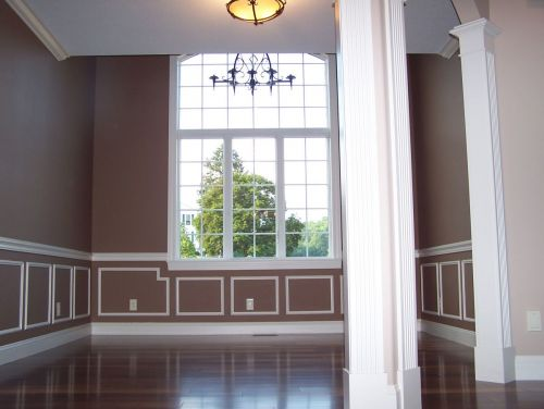 White trim and mouldings