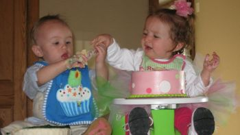 First Birthday for Rose's grandbabies